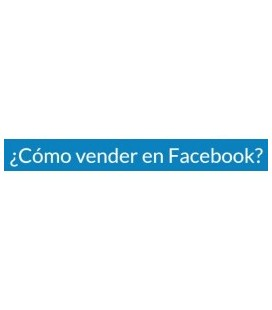 Como Vender en Facebook